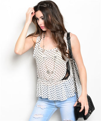White Polka Dot Blouse