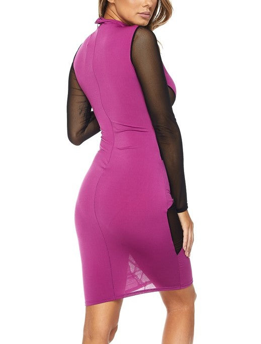 Magenta Magic Bodycon Dress