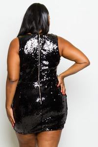 Shimmering Night Sequin Bodycon Dress