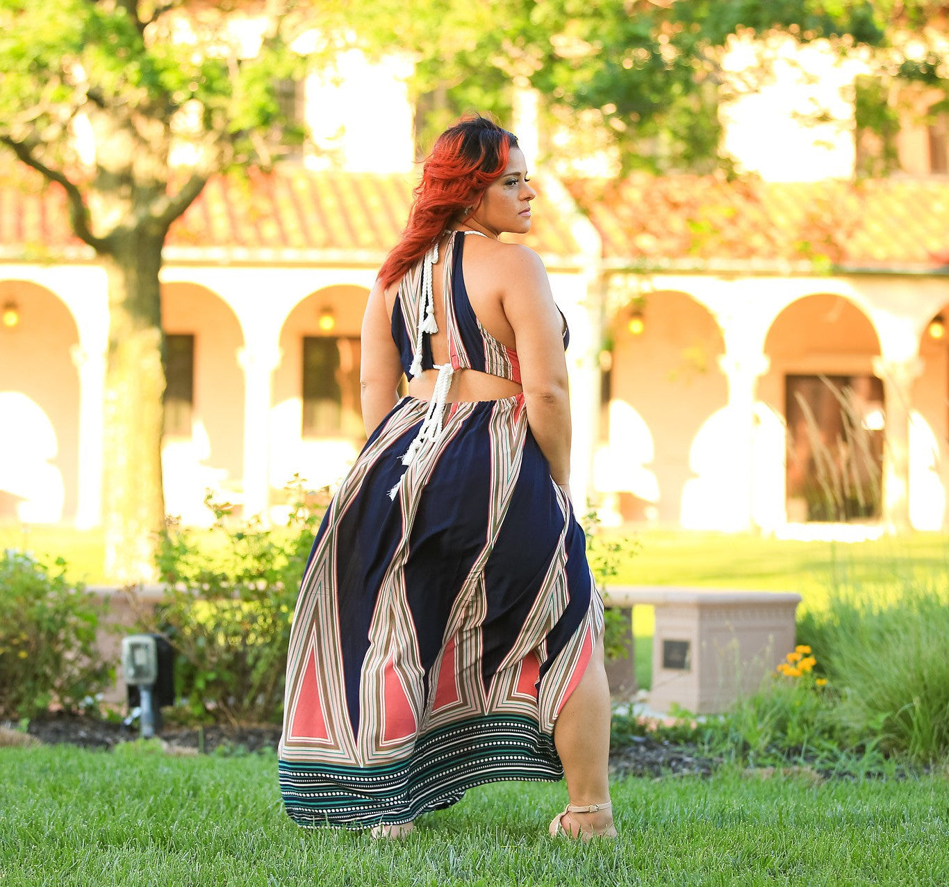 A Symmetrical Breeze Cut Out Maxi - Blacque Onyx Apparel
