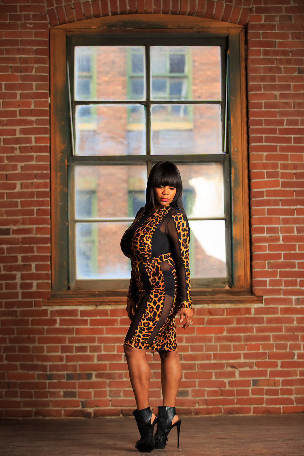 Watch Me Werk Leopard Bodycon Dress
