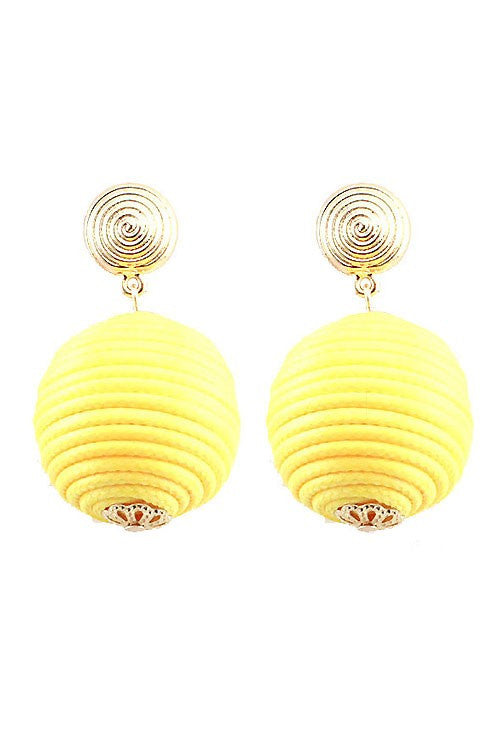 Thread Ball Post Earrings