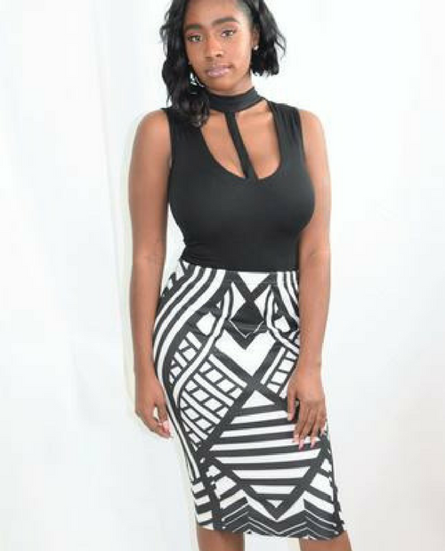 Aztec On The Scene Midi Skirt