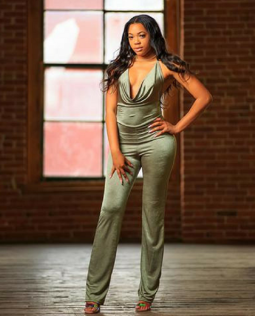 Green Machine Strappy Jumpsuit