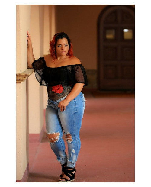 Miami Rose Off Shoulder Bodysuit
