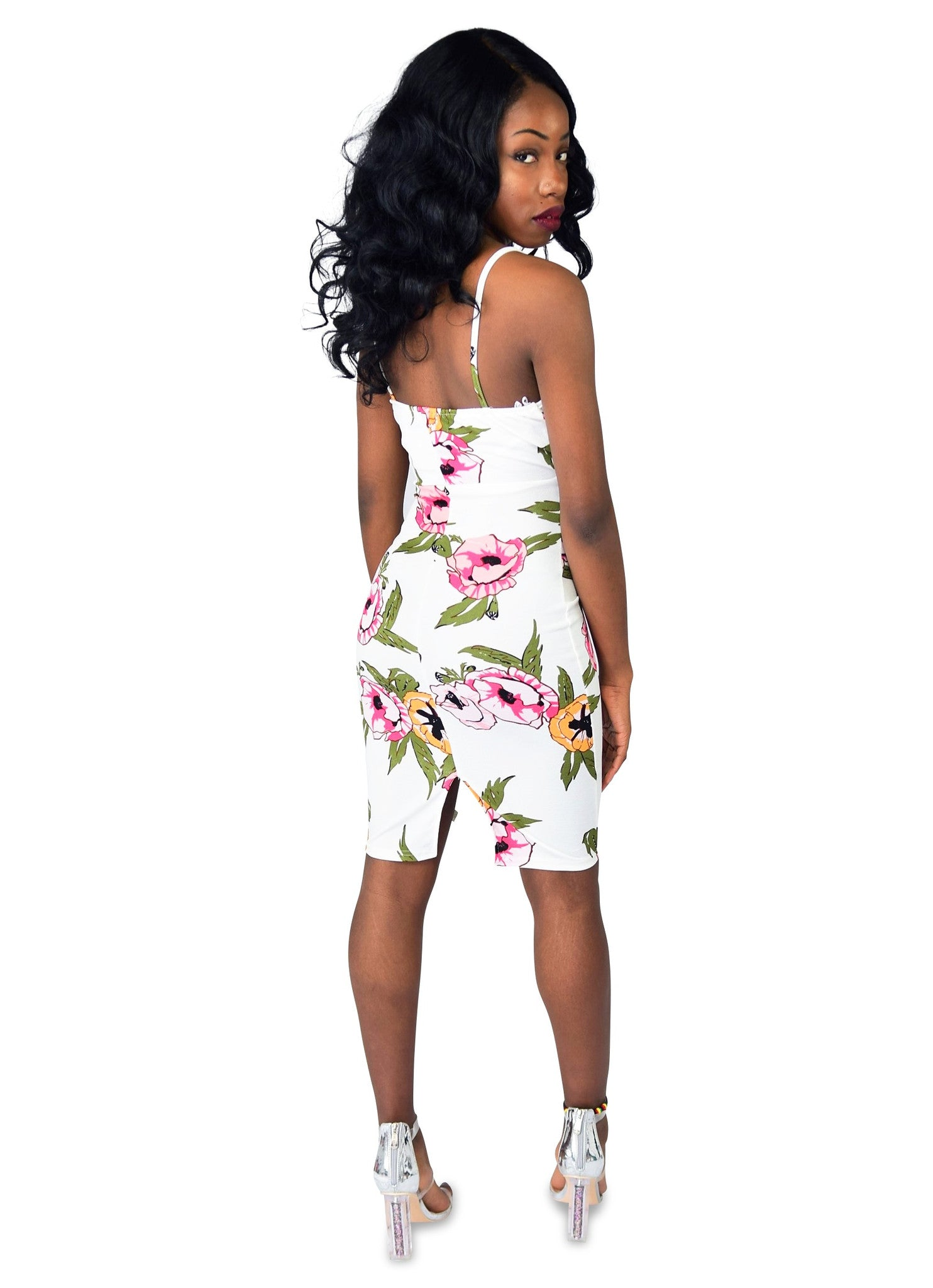 Spring Fling Floral Bodycon Dress