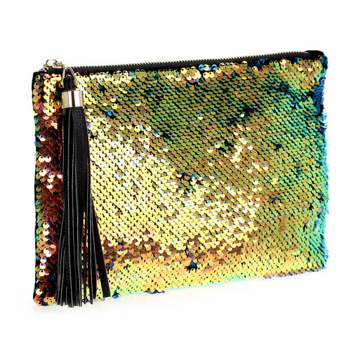 Multi Color Sequin Clutch Bag