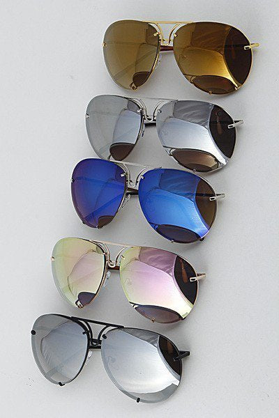 Let The Sun Shine Aviator Sunglasses