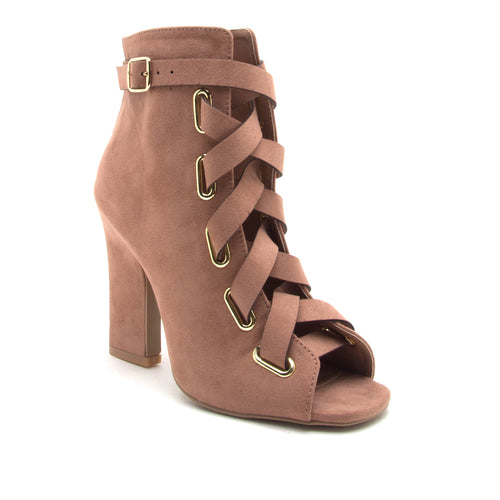 Blush Nation Peep Toe Bootie