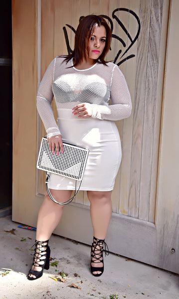Mesh Starter Bodycon Dress