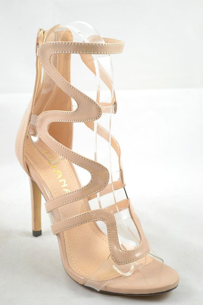 Wavy Cut Patent Leather Stiletto