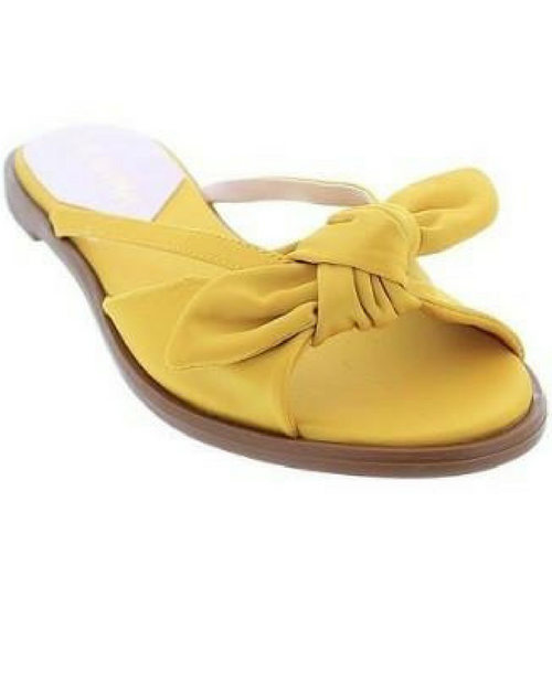 Satin Sandal w/Bow Accent