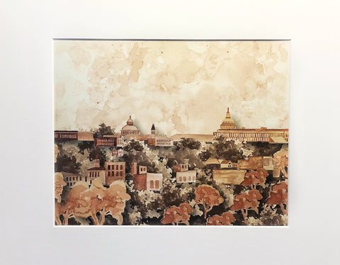 DC SKYLINE COFFEECOLOR PRINT