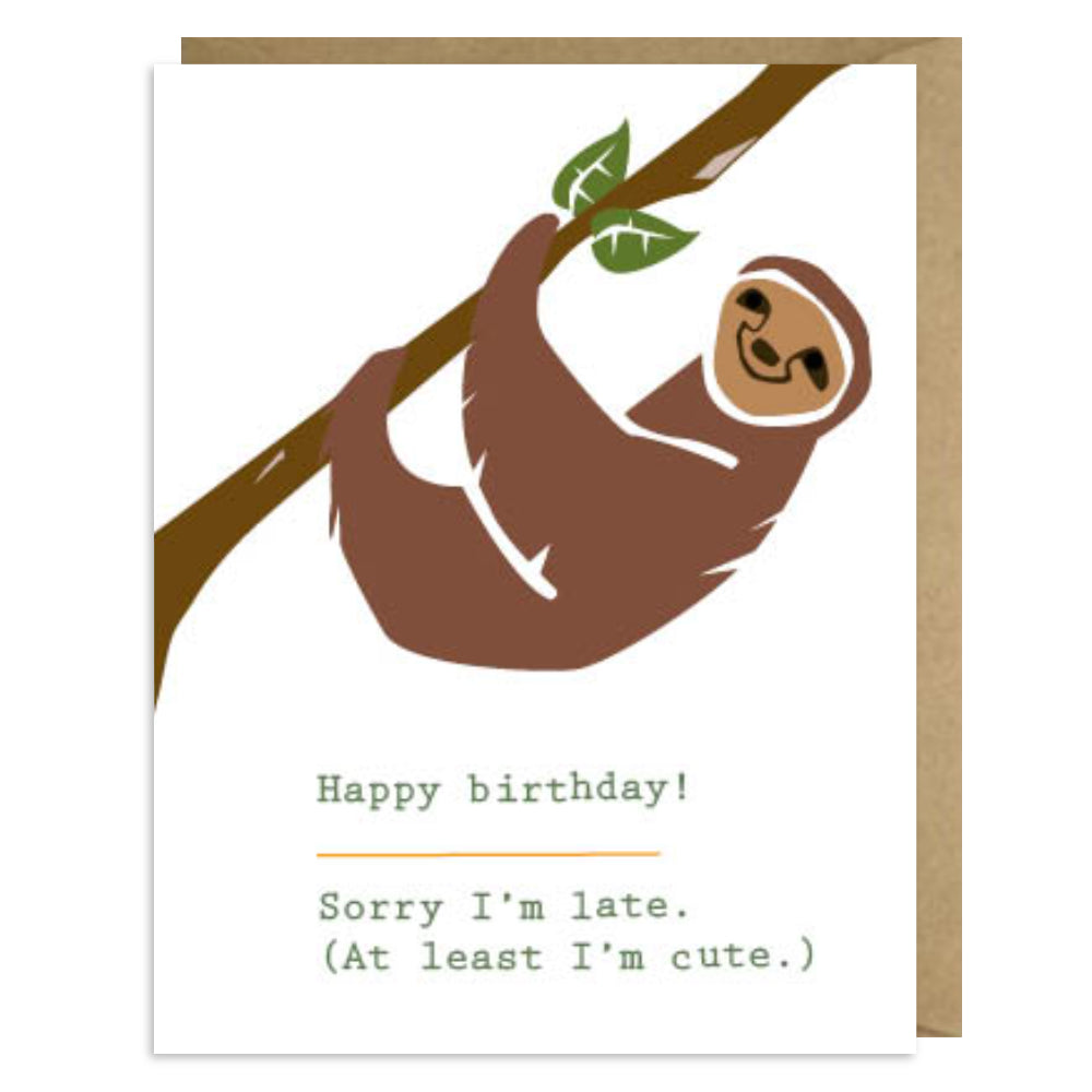 Belated Sloth Birthday Second Story Cards