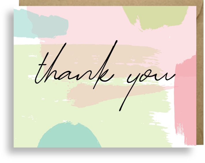 THANK YOU PASTELS SET OF 6