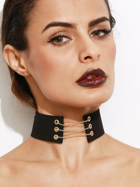 KIM CHAINED CHOKER - Princess J. Jewelry
