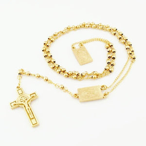 EL SALVADOR ROSARY NECKLACE - Princess J. Jewelry