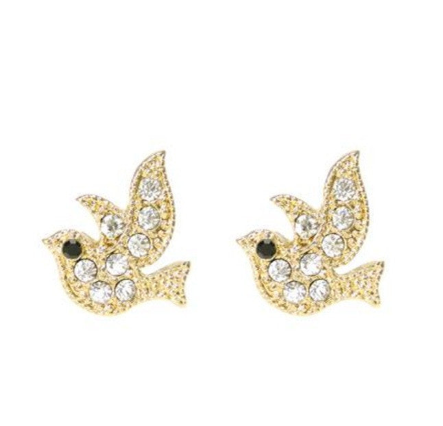 DOVE EARRINGS - Princess J. Jewelry