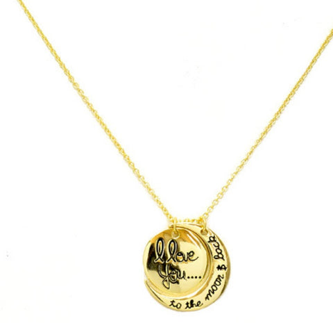 LOVE YOU TO THE MOON NECKLACE - Princess J. Jewelry
