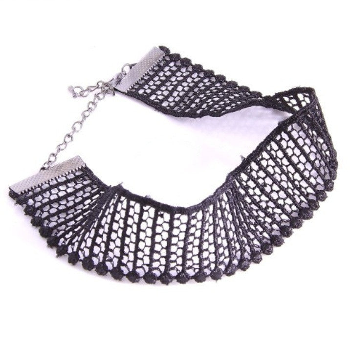 KNITTED MESH CHOKER - Princess J. Jewelry
