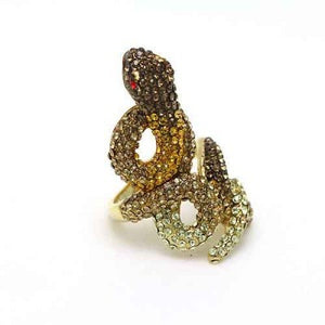SILLY SNAKE BROWN RING - Princess J. Jewelry