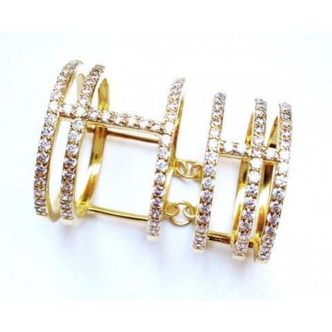 """DOUBLE CAGE"" RING"