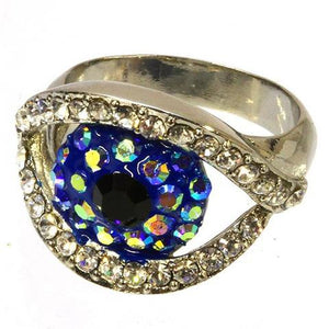 SILVER EVIL EYE RING - Princess J. Jewelry