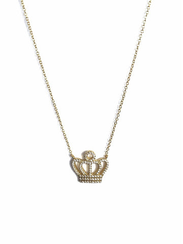QUEEN B STERLING SILVER NECKLACE - Princess J. Jewelry