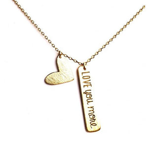 """LOVE YOU MORE"" NECKLACE - Princess J. Jewelry"
