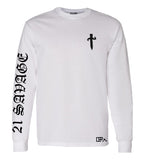 21 Savage long sleeve white