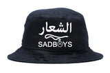 SAD BOYS ARABIC LOGO BUCKET HAT - dopepremium