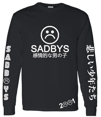 SAD BOYS EMOTIONAL LONG SLEEVE SHIRT - dopepremium