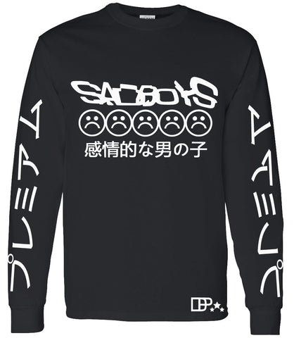 SAD BOYS VAPORWAVE LONG SLEEVE SHIRT - dopepremium