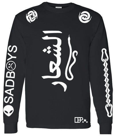 SAD BOYS ARABIC LOGO LONG SLEEVE SHIRT - dopepremium