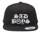 SAD BOYS OLD ENGLISH SNAPBACK HAT - dopepremium