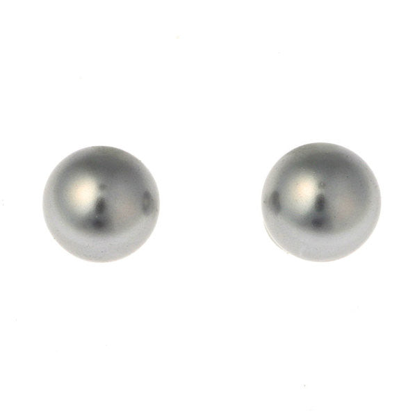 9mm grey pearl stud - E68-212