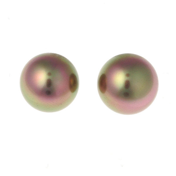 12mm coffee pearl stud - E7-712