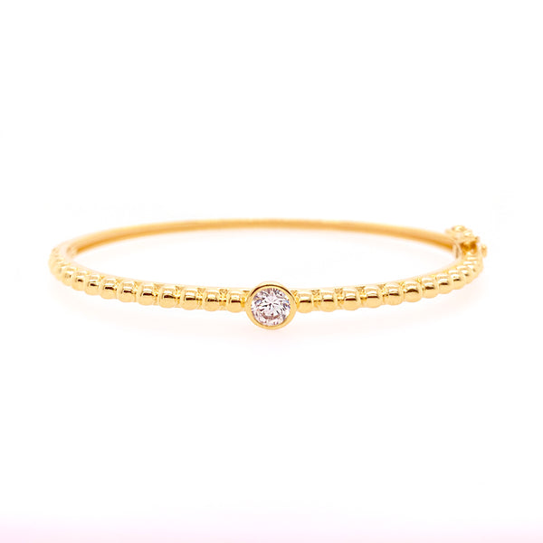 B787-GP-Yellow gold cz bangle