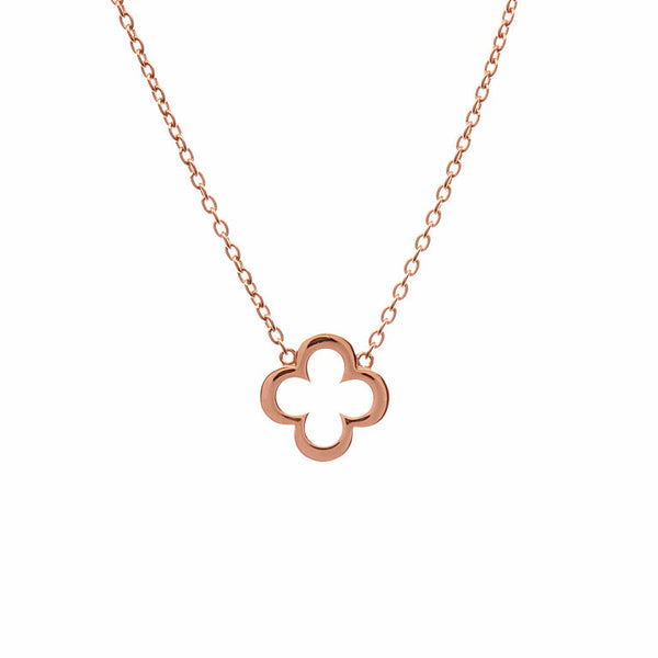 Rose gold flower pendant - P102-RG