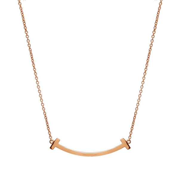 Rose gold plate solid bar necklace - P338-RG