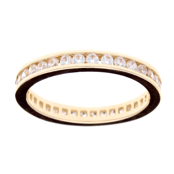 R1172-GP - Yellow gold cz eternity band