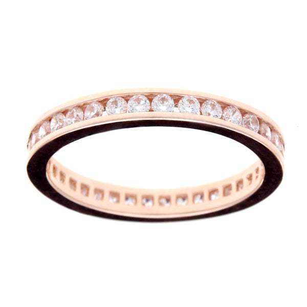 R1172-RG - Rose gold cz eternity band