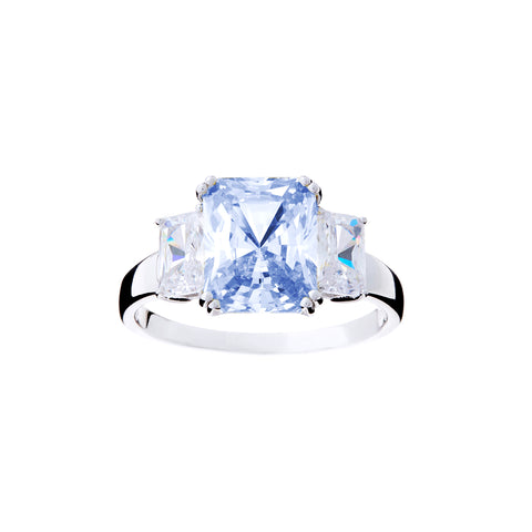 R2020-B - Blue & cz dress ring