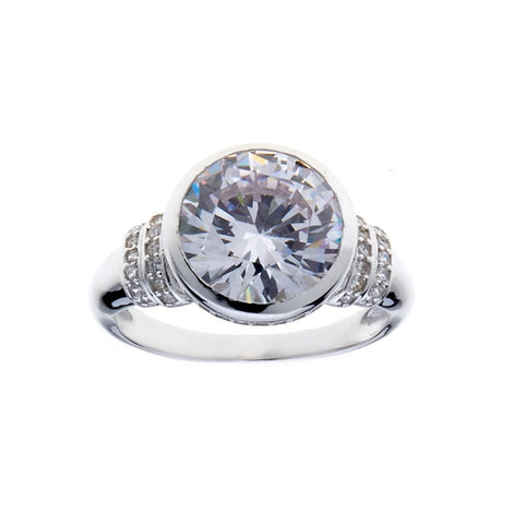 R2146- Rhodium cz dress ring