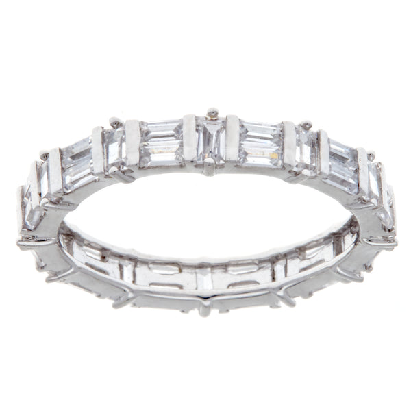 R2978 - Rhodium baguette eternity band
