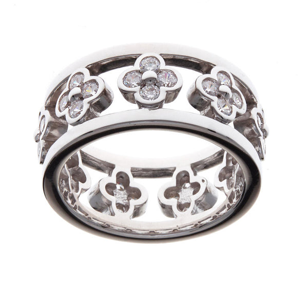 Sterling Silver Flower Ring - R9629