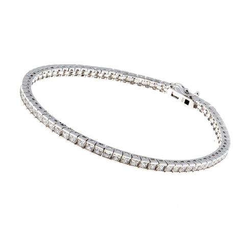 3mm princess cut cz tennis bracelet - B120-RH