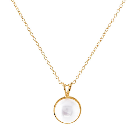 P182-GP - Gold freshwater pearl necklace