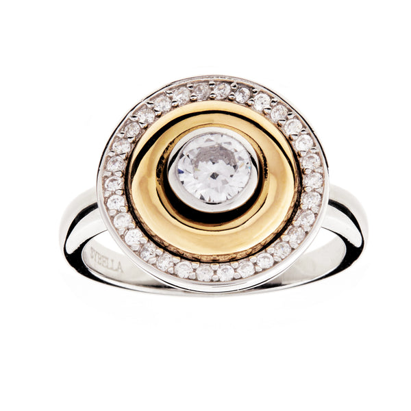 R26-GP - Two tone dress ring
