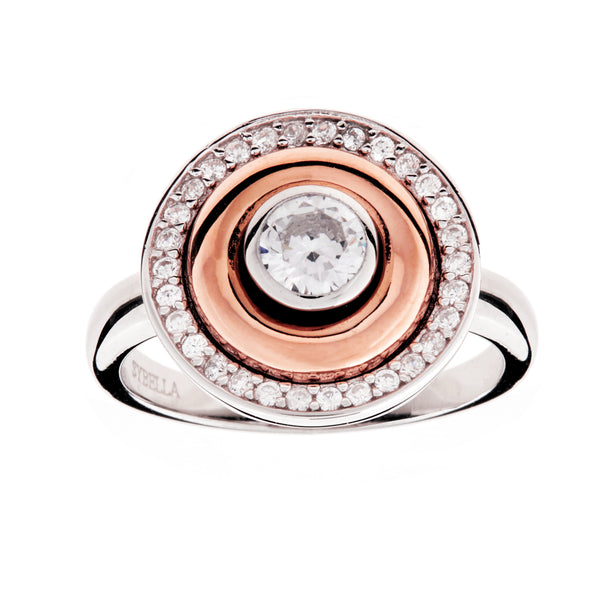 R26-RG - Two tone dress ring